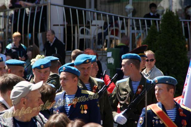 Анапа 9 мая 2015г. ул. Ленина участники военного парада