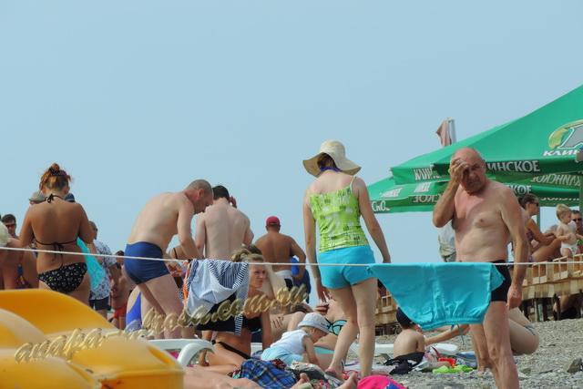 Анапа пляж яхт-клуба первая половина августа